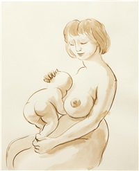 woman and baby by john currin
