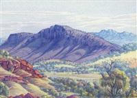 macdonnell range, glen helen, a. .1955 by albert namatjira