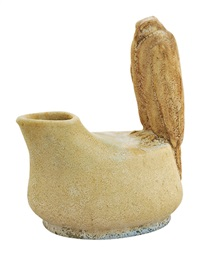 vase with falcon (model 7960) by sandor apati abt