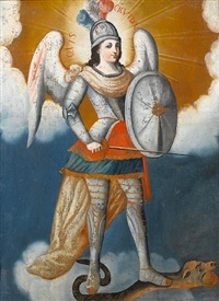 the archangel michael by peruvian school-cuzco