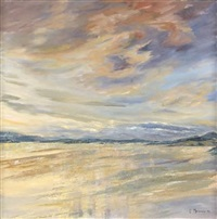 a deserted beach scene by frances macdonald