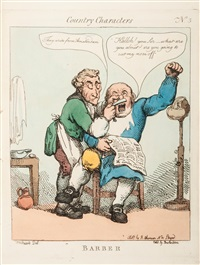 country characters (after woodward) (set of 12) by thomas rowlandson