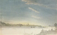 quebec viewed from across the st. lawrence by benjamin (major-general) fisher