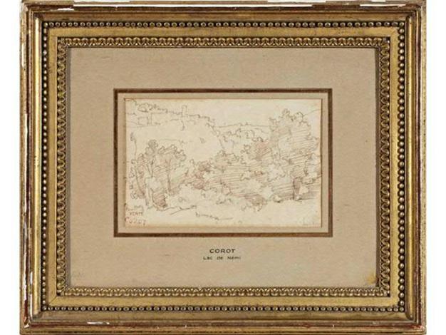 le lac de némi by jean baptiste camille corot