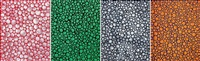 dots, accumulation; season of the green; dots accumulation; & the evening glow (4 works) by yayoi kusama