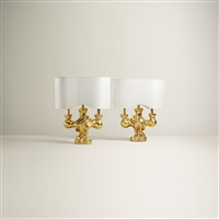 table lamps (pair) by georges jouve