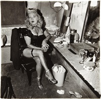 burlesque comedienne in her dressing room, atlantic city, n.j by diane arbus