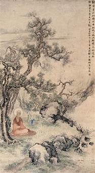 坐禅 (buddha) by qian yunhe