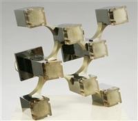 Plafoniera Cubic (Cubic Lamp)(in 8 Parts), 1960. Gaetano Sciolari