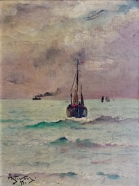 marine par temps de brume by alfred stevens