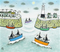 penzance harbour by joan gillchrest
