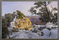icy path to bright angel point by peter holbrook