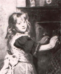 warming by the fire by william hippon gadsby