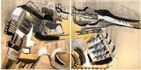 série 2, guns-loaded ? (diptych) by serghei manoliu