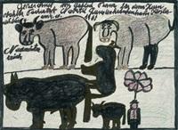 kühe und pferd by franz gableck