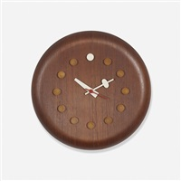 stool seat wall clock, model 7512 by george nelson & associates