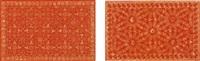 two works: (i) marble floor #11; (ii) marble floor #13 by wim delvoye