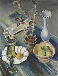 stilleben mit früchten und vasen by arthur kaufmann