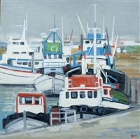 bateaux à quai by ginette rapp