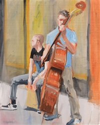 busker study by david mcelhinney