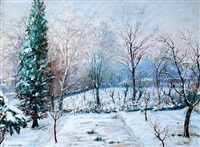 paysage de neige by angelo abrate
