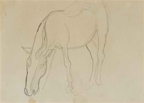 cheval recto and etude de personnage verso by paul gauguin