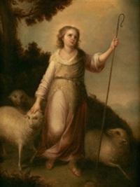 el buen pastor niño by bartolomé esteban murillo