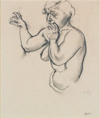 nude study by george grosz