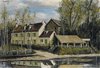 champy, la marinière, bords de l'oise by bernard buffet