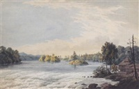 rapids by a timber stockade by benjamin (major-general) fisher