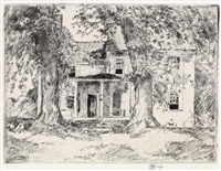 washington's headquarters near valley forge by childe hassam