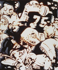 tackle' (from the series pictures of chocolate) by vik muniz