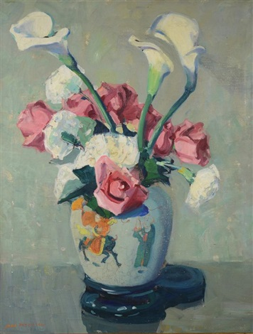 roses and lilies by jane peterson