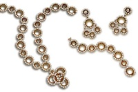 a suite comprising a necklace, bracelet and pair of earclips (set of 3) by gerard