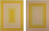 dawn - cool rectangle; dawn - warm rectangle (2 works) by richard anuszkiewicz