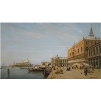 view of the piazzetta and the doge's palace, venice by jean baptiste van moer