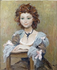 jeune fille assise by marcel dyf