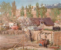 springtime, santa fe by odon hullenkremer