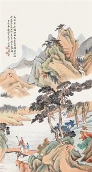 秋山策杖 by huang shanshou
