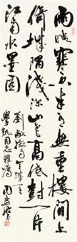 刘敞 微雨登城 立轴 水墨纸本 by zhou huijun