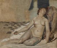 femme nue allongée (preparatory study) by joseph-marius avy
