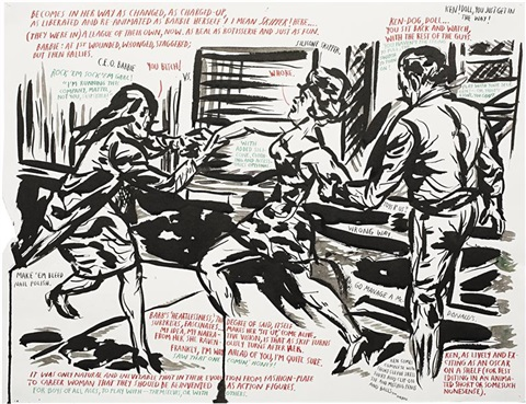untitled becomes in her by raymond pettibon