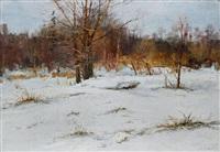 winterlandschaft by mikhail georgievich kozell