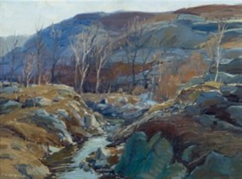maine winterscape by edward willis redfield