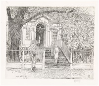 the chase house by childe hassam