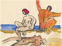 badende by maria lassnig