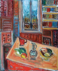 still life by a window by pinchas abramovich