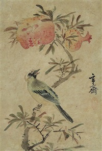 flower & birds by sim sa-jong