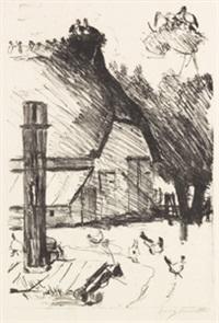 bauernhof mit storchennest by lovis corinth