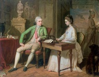 portrait of sir william and lady hamilton by david allan